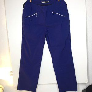 Jamie Sadock blue women's elastic waist golf pants